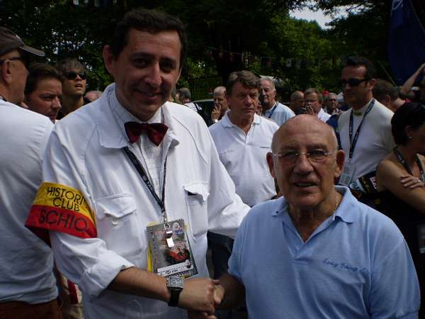 Gianni Codiferro con Sir Stirling Moss